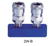 "AIR CONNECTOR, EU-Type, 1/4"", 2-way, Internal thread, Female (2W-B)"