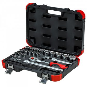 "Socket set 1/2"", bi-hexagon, 10-32mm 24pcs (GEDORE R69013024) (3300056)"