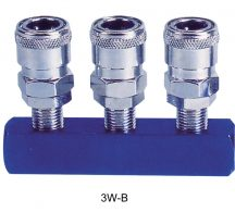 "AIR CONNECTOR, EU-Type, 1/4"", 3-way, Internal thread, Female (3W-B)"