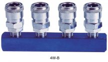 "AIR CONNECTOR, EU-Type, 4-way, 1/4"", Internal thread, Female (4W-B)"