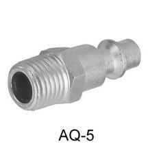 """AIR CONNECTOR, 1/4"""", US-Type, External thread, Male (AQ-5)"""