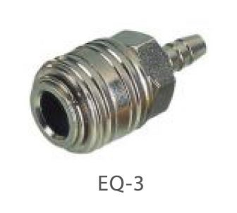 "AIR CONNECTOR, 1/4"", EU-Type, Hose end, Female (EQ-3)"