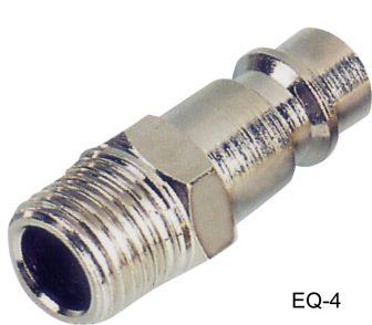 """AIR CONNECTOR, 1/4"""", EU-Type, External thread, Male (EQ-4)"""