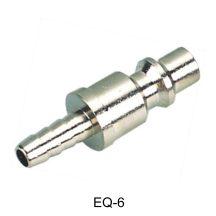 """AIR CONNECTOR, 1/4"""", EU-Type, Hose end, Male (EQ-6)"""