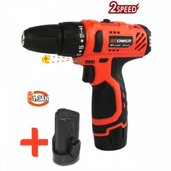 Cordless power drill, 12V, 2x1.3Ah, 10mm, 18Nm (FIXMAN FX-AP12-02)