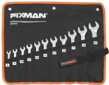 11 Pcs Combination Wrench Set, 8-22mm (FIXMAN FX-B0908)