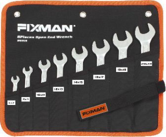 6pcs Double Open End Wrench Set, 8-19mm (FIXMAN FX-B0914)