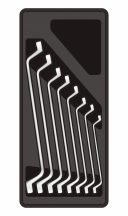 8-pc Ring Spanner 6-22mm, 390x175x50mm (FIXMAN FX-F1.BT05.1)