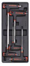 5-pc L-Handle Hex Key W/Ball Head, 390x175x50mm (FIXMAN FX-F1.BT12)