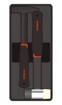 2-pc Mechanical Hammer & Mallet, 500g+40mm (FIXMAN FX-F1.BT13)