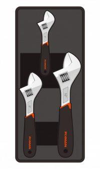 "3-pc Adjustable Wrench, 6"" 8"" 10"", 395x175x45mm (FIXMAN FX-F1.BT23)"