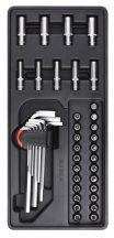 """42-pc 1/4""""Dr.Sockets & Accessories, 390x175x50mm (FIXMAN FX-F1.BT49)"""
