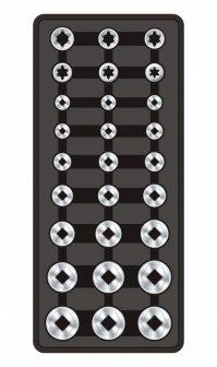 """27-pc 1/2"""" Dr. Sockets, 390x175x50mm (FIXMAN FX-F1.BT61)"""