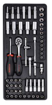 """56-pc 1/4""""Dr.Sockets & Accessories, 390x175x50mm (FIXMAN FX-F1.BT70)"""