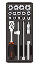 """19-pc 1/2""""Dr.Sockets & Accessories, 390x175x50mm (FIXMAN FX-F1.BT76)"""