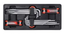 4-pc Hex Keys, Extra Long+Torx, 390x175x50mm (FIXMAN FX-F1.BT83)