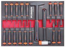 18-PC Hammer & Punch Set, 525x390x45mm (FIXMAN FX-F1.ET05)