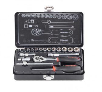 """19-pcs 1/4"""" Dr. Socket Tool Set (FIXMAN FX-MT19)"""