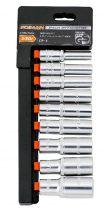 """9 pieces 3/8""""Dr. Deep Socket Set, 8-19mm (FIXMAN FX-P3009M)"""