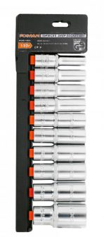 "10 pieces 1/2""Dr. Deep Socket Set, 10-24mm (FIXMAN FX-P4010M)"