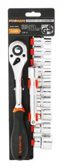 """10 pieces 1/2""""Dr. Socket & Ratchet Set, 10-24mm (FIXMAN FX-P4012M)"""