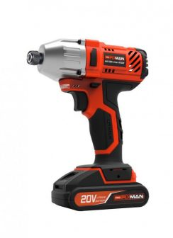 "Cordless Power Impact Wrench, 20V, 2.0Ah, 1/2"", 330Nm (FIXMAN FX-R7201-1)"