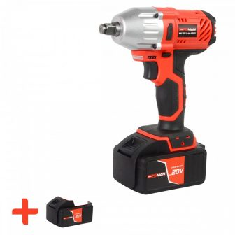 "Power Impact Wrench Set 5pcs, 20V, 2x4.0Ah, 1/2"", 330Nm, inc. Box (FIXMAN FX-R8001_2)"