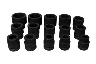 "1"" Drive Impact Socket Set 22mm - 60mm, 15pcs (JQ-1-15set)"