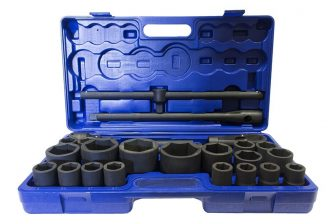 "1"" (55, 60, 65mm) & 3/4"" (21-50mm) Drive, socket tools kit 26pcs (JQ-1-26set)"