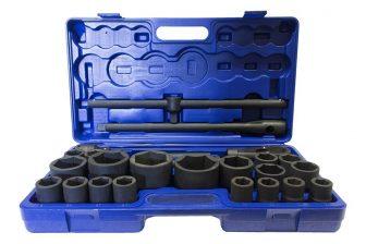"1"" (55, 60, 65mm) & 3/4"" (21-50mm) Drive, socket tools kit 26pcs (JQ-1-26set)"