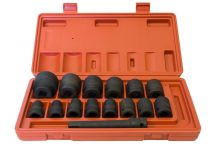 "1/2"" Drive Impact Socket Set 9 mm - 32 mm, 15pcs (JQ-12-15set)"