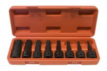 "1/2"" impact Hex socket bit set 5mm - 19mm, 8pcs"