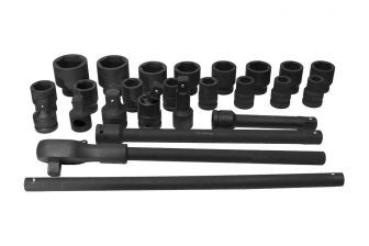 "3/4"" Drive Impact Socket Set 17mm - 50mm, 24pcs (JQ-34-24set)"