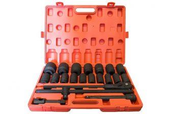 "3/4"" Drive Deep Impact Socket set 13/16"" - 2"", 21pcs, length: 90mm SAE (JQ-34-ZT021B-SAE)"