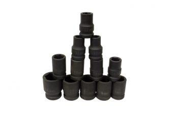 "1/2"" Drive Impact Socket Set 10mm - 24mm, 12pcs (JQ-38-12-12set)"