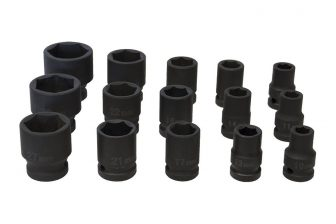 "1/2"" Drive Impact Socket Set 10mm - 32mm, 15pcs (JQ-38-12-15set)"