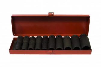 "1/2"" Drive Impact Socket Set 11mm - 27mm, 10pcs (JQ-78-12-10set-01)"