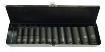 "1/2"" Drive Impact Socket Set 10mm - 24mm, 12pcs (JQ-78-12-12set)"