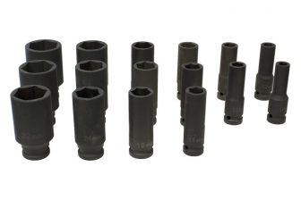 "1/2"" Drive Impact Socket Set 10mm - 36mm, 16pcs (JQ-78-12-16set)"
