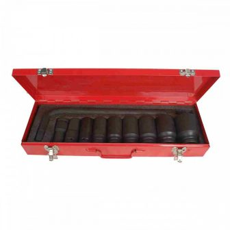 "3/4"" Drive, socket tools kit (17-41mm), L: 80mm, 10pcs (JQ-80-34-10set)"