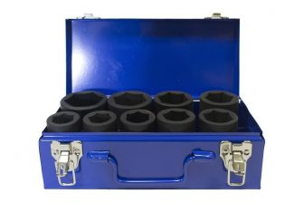 "1"" Drive Deep Impact Socket set 26m - 50mm, 9pcs (JQ-90-1-9set)"