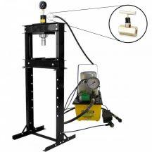 20 Ton Shop Press with Pressure Gauge, Hydraulic Pump, Speed valve