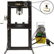 40 Ton Shop Press with Pressure Gauge, Hydraulic Pump, Speed valve (SP40E)