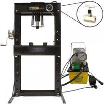 50 Ton Shop Press with Pressure Gauge, Hydraulic Pump, Speed valve