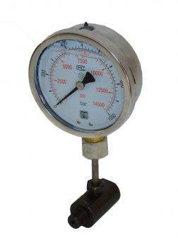 Hydraulic Pressure Gauge wit Stand (1000 Bar - 100 mm)