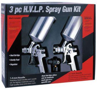 3PCS H.V.L.P. SPRAY GUN KIT, 1000ml; 1,4-1,7mm(W-2000B3)