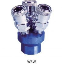 "AIR CONNECTOR, EU-Type, 1/4"", 3-way, (W3W)"
