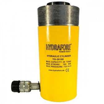 Single Acting Cylinder with collar threads (20 ton - 100 mm) (YG-20100CT)
