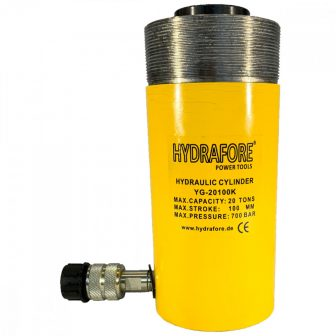 Single-acting Hollow Ram Cylinder with collar threads (20 T - 100 mm) (YG-20100KCT)