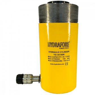 Single-acting Hollow Ram Cylinder with collar threads (30 T - 100 mm) (YG-30100KCT)